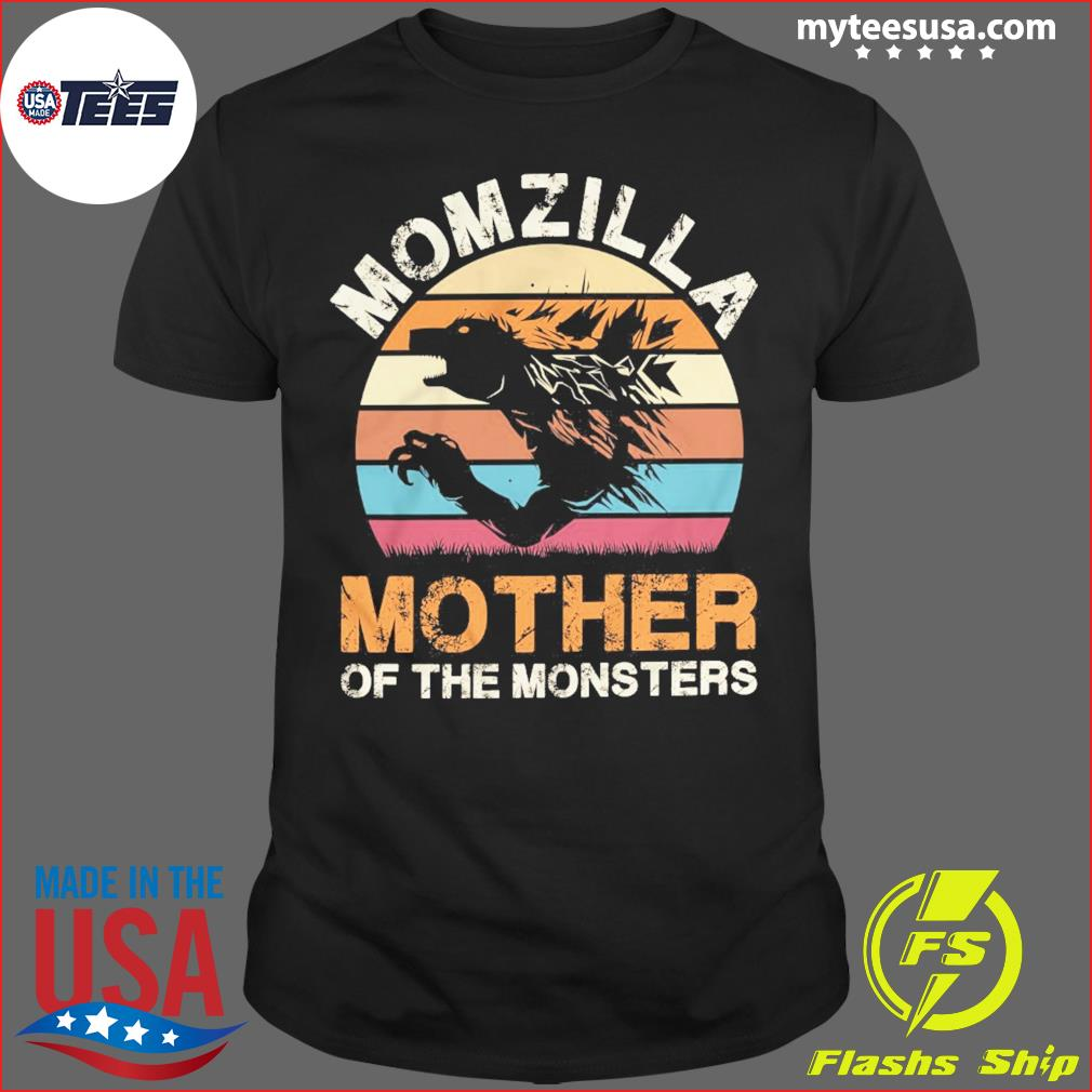 Momzilla Mother Of The Monsters Vintage Retro Shirt