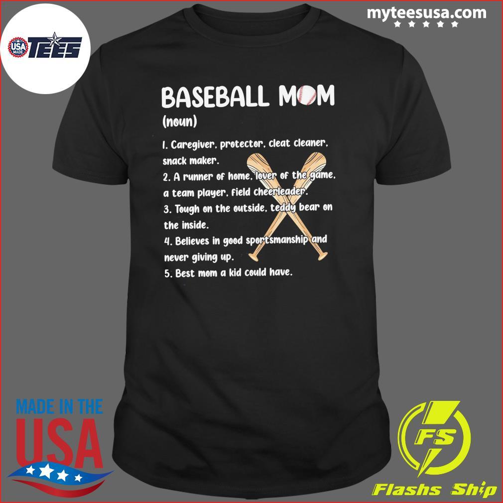 Baseball Mom Caregiver Protector Cleat Cleaner Snack Maker Shirt