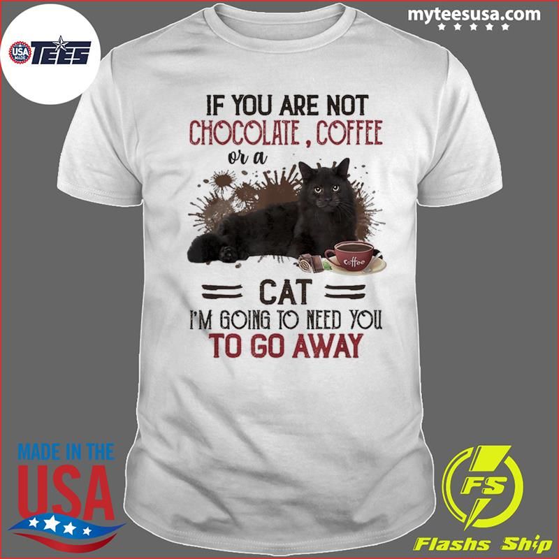 If You Are Not Chocolate Coffee Or A Cat I'm Going To Need You To Go Away T-Shirt