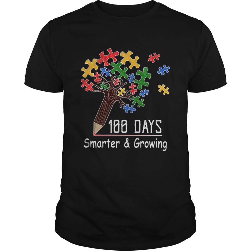 100 days smartergrowing tree of life puzzle Autism Awareness  Unisex