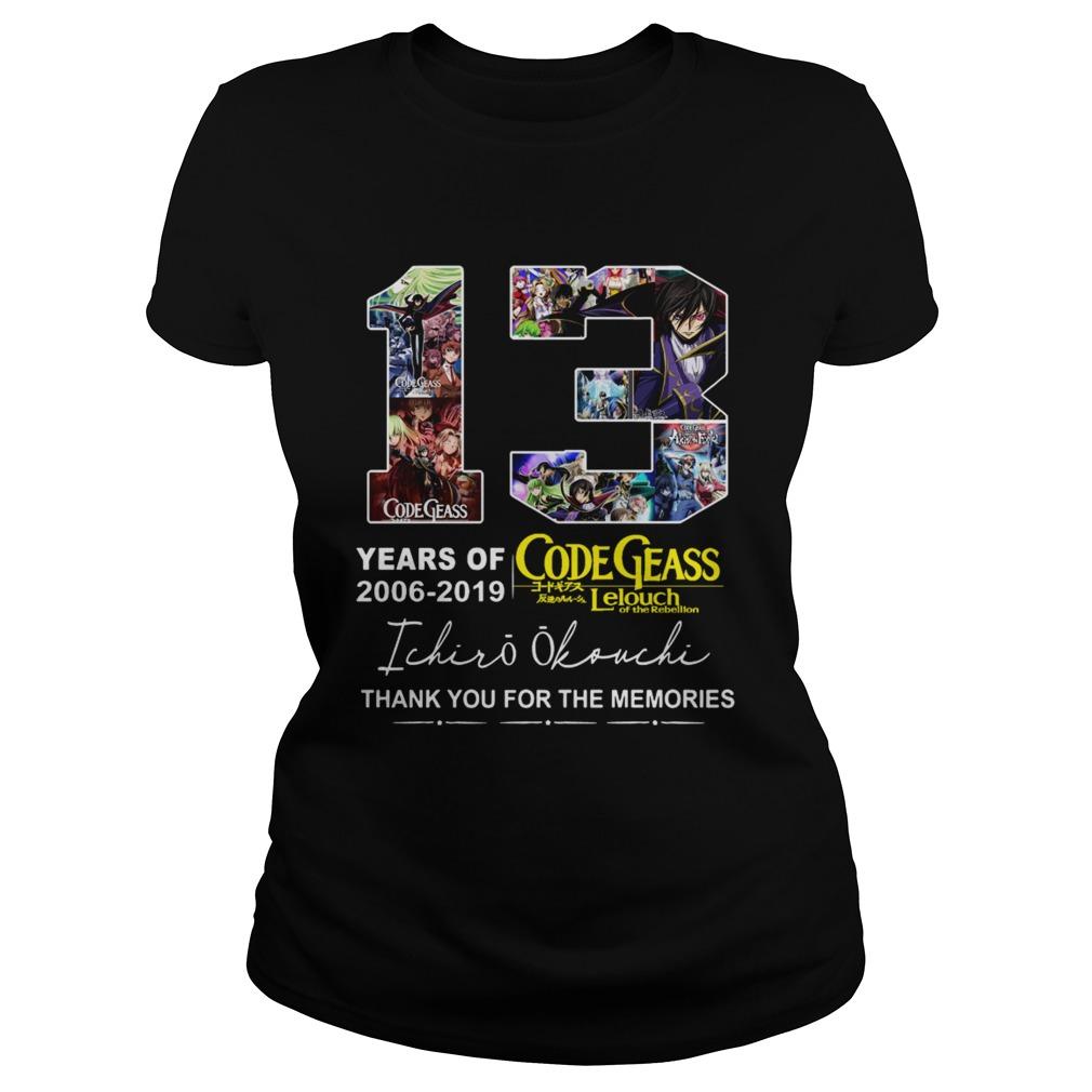 13 years of Code Geass 2006 2019 Ichiro Okouchi thank you  Classic Ladies