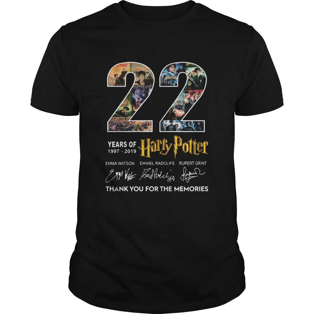 22 Years Of 19772019 Harry Potter Thank You For The Memories  Unisex
