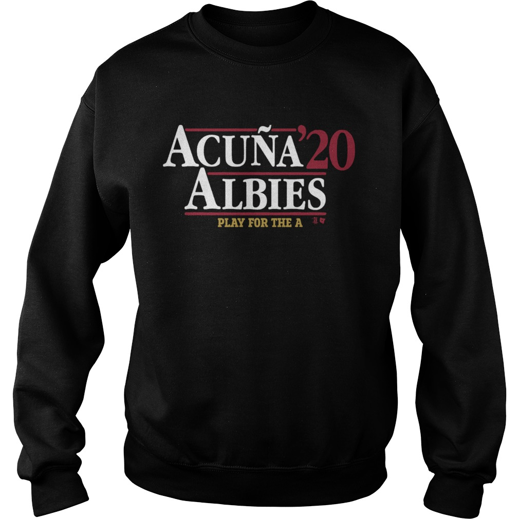 Acua Albies 20 Play For The A  Sweatshirt
