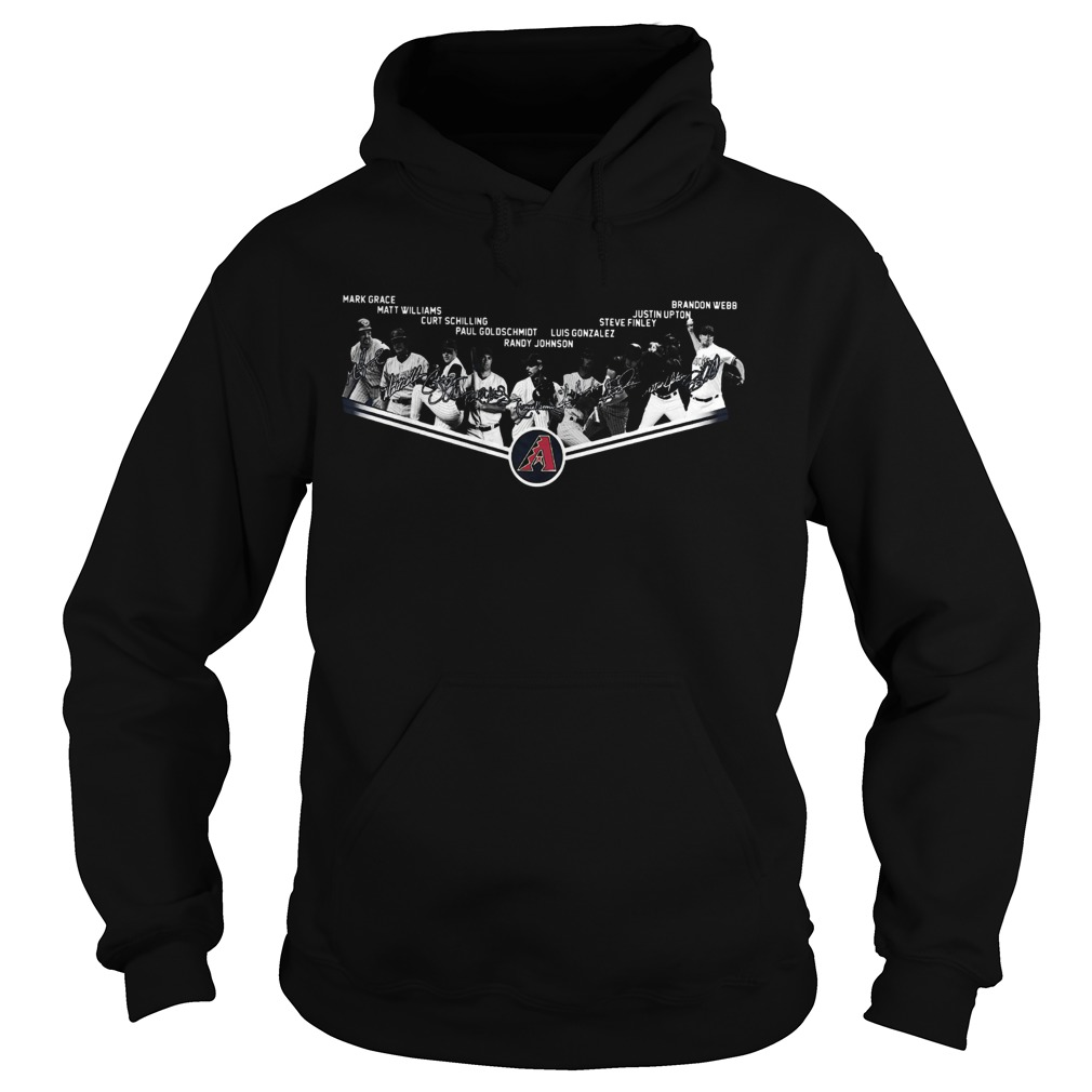 Arizona Diamondbacks Legends Players Team Signature  Hoodie