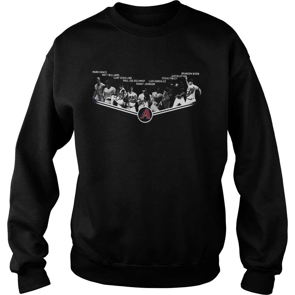 Arizona Diamondbacks Legends Players Team Signature  Sweatshirt