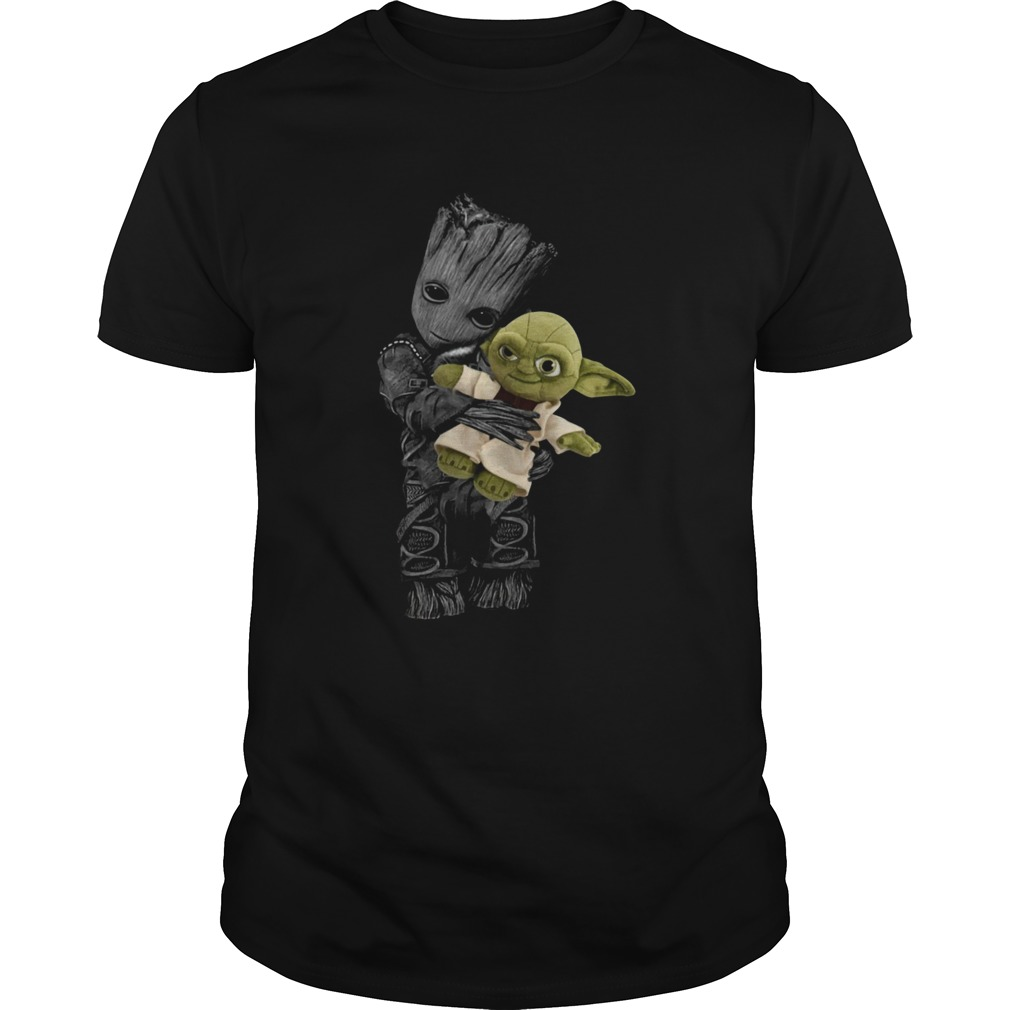 Baby Groot Hugging Baby Yoda  Unisex