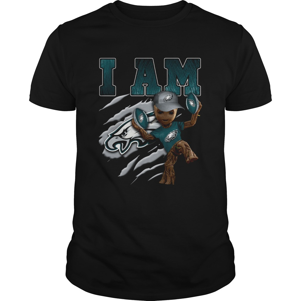 Baby Groot I Am Philadelphia Eagles  Unisex