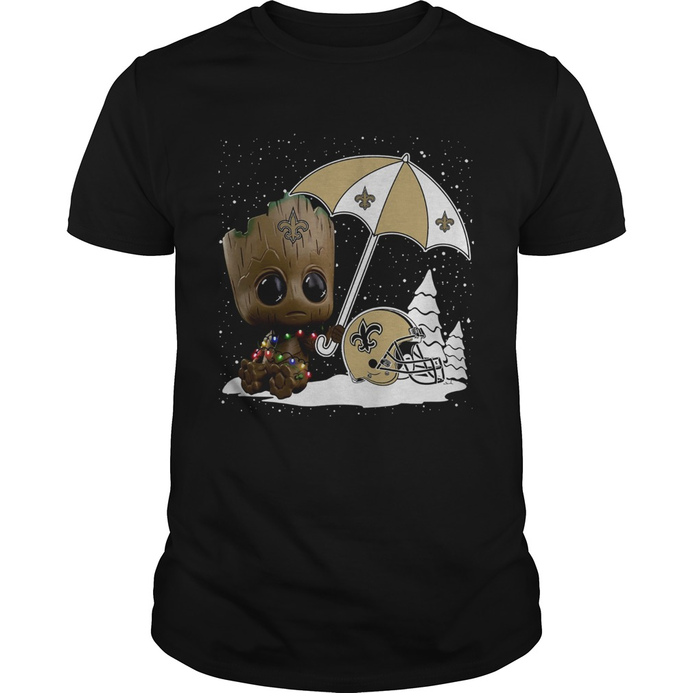 Baby Groot New Orleans Saints Christmas  Unisex