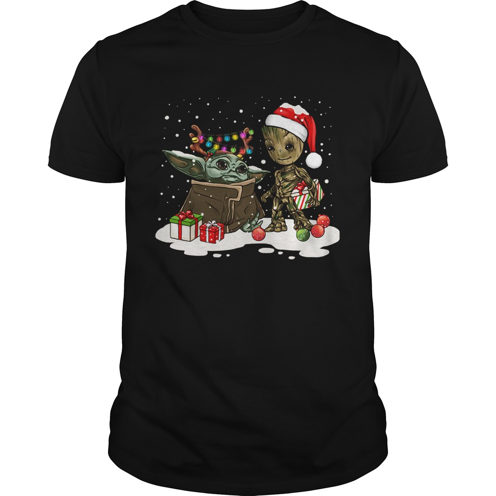 Baby Yoda And Baby Groot Christmas  Unisex