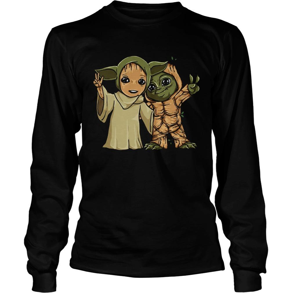 Baby Yoda and Groot  LongSleeve