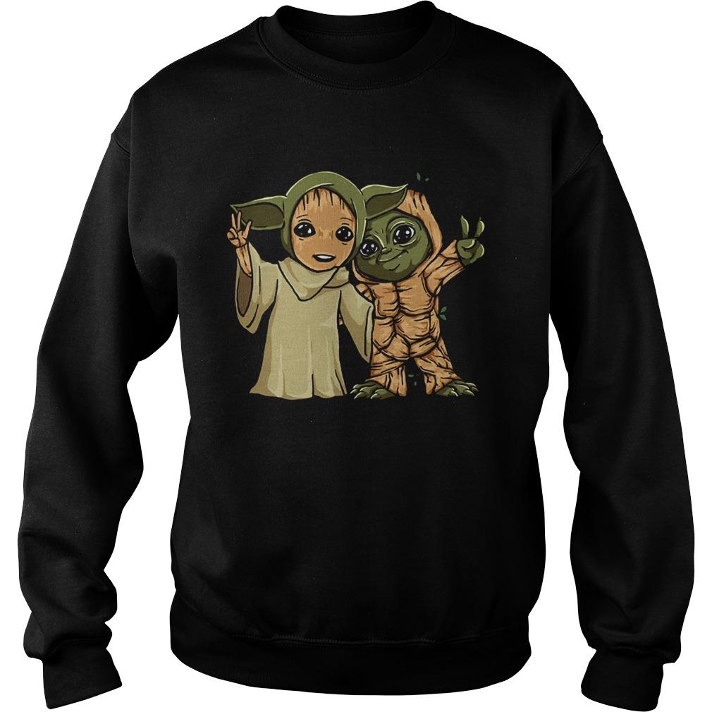 Baby Yoda and Groot  Sweatshirt