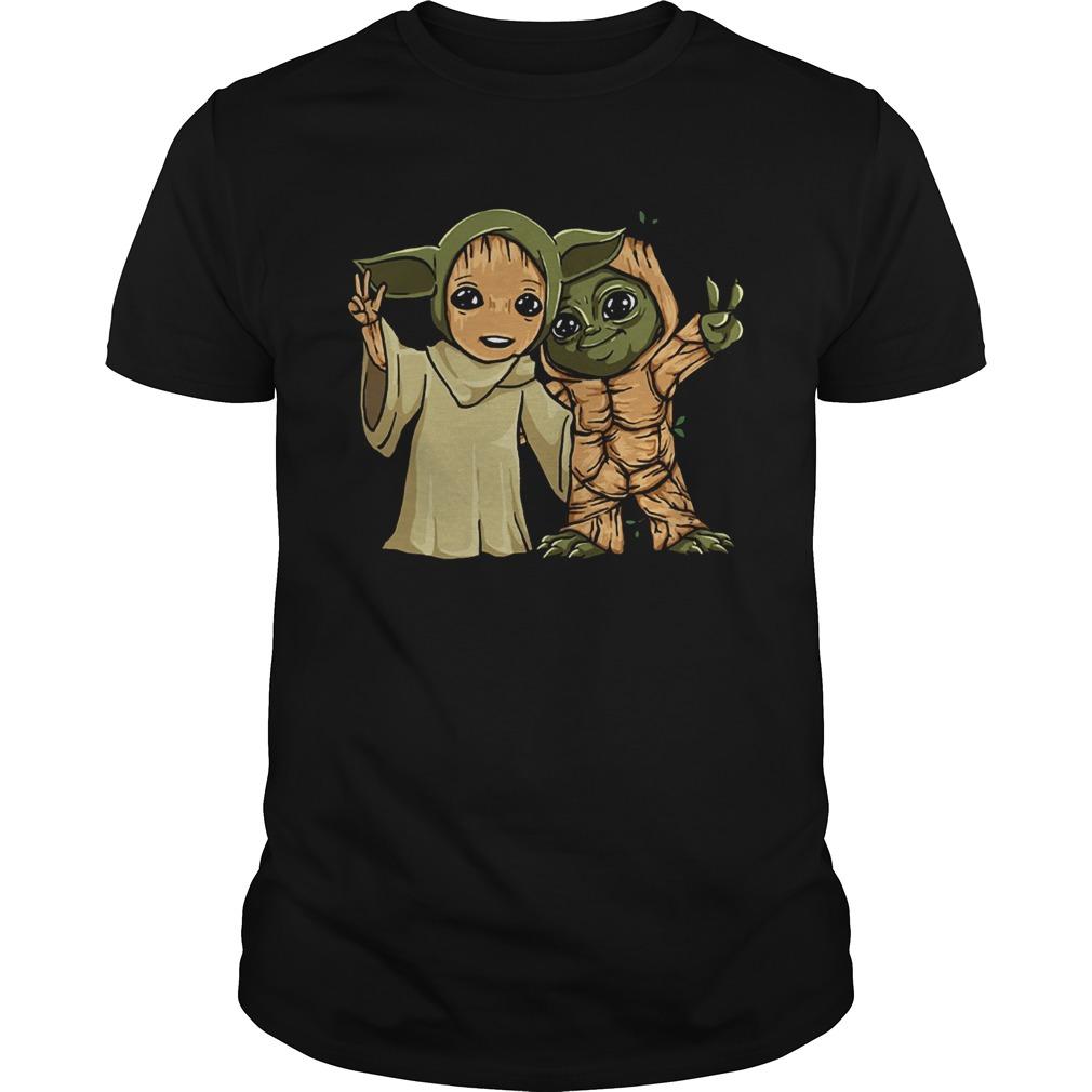 Baby Yoda and Groot  Unisex