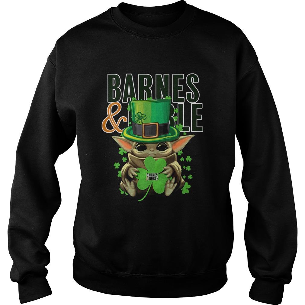 Baby Yoda Barnes And Noble Shamrock StPatricks Day  Sweatshirt