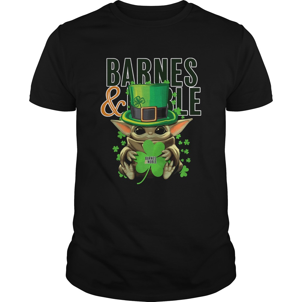 Baby Yoda Barnes And Noble Shamrock StPatricks Day Unisex