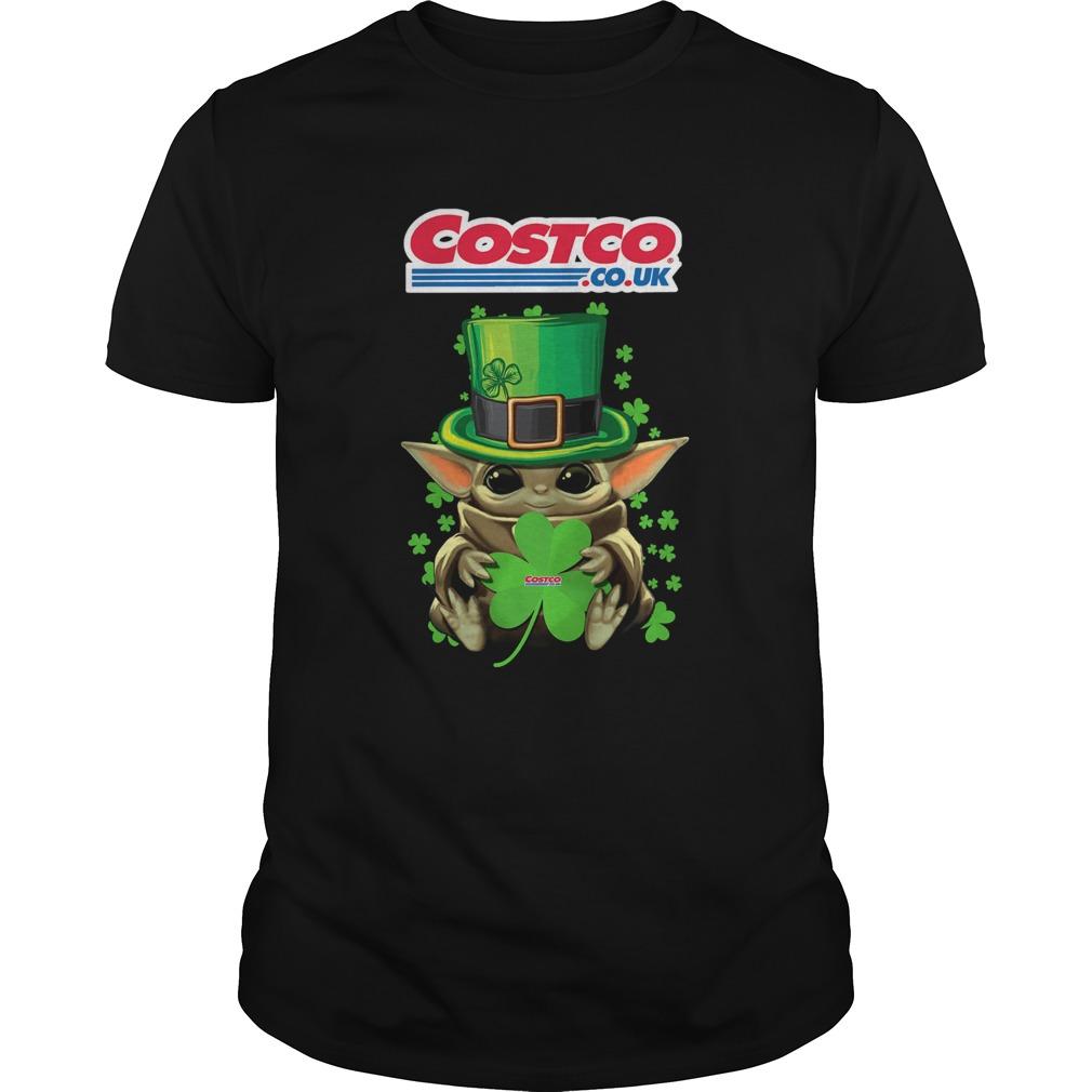 Baby Yoda Costo CoUk Shamrock StPatricks Day  Unisex