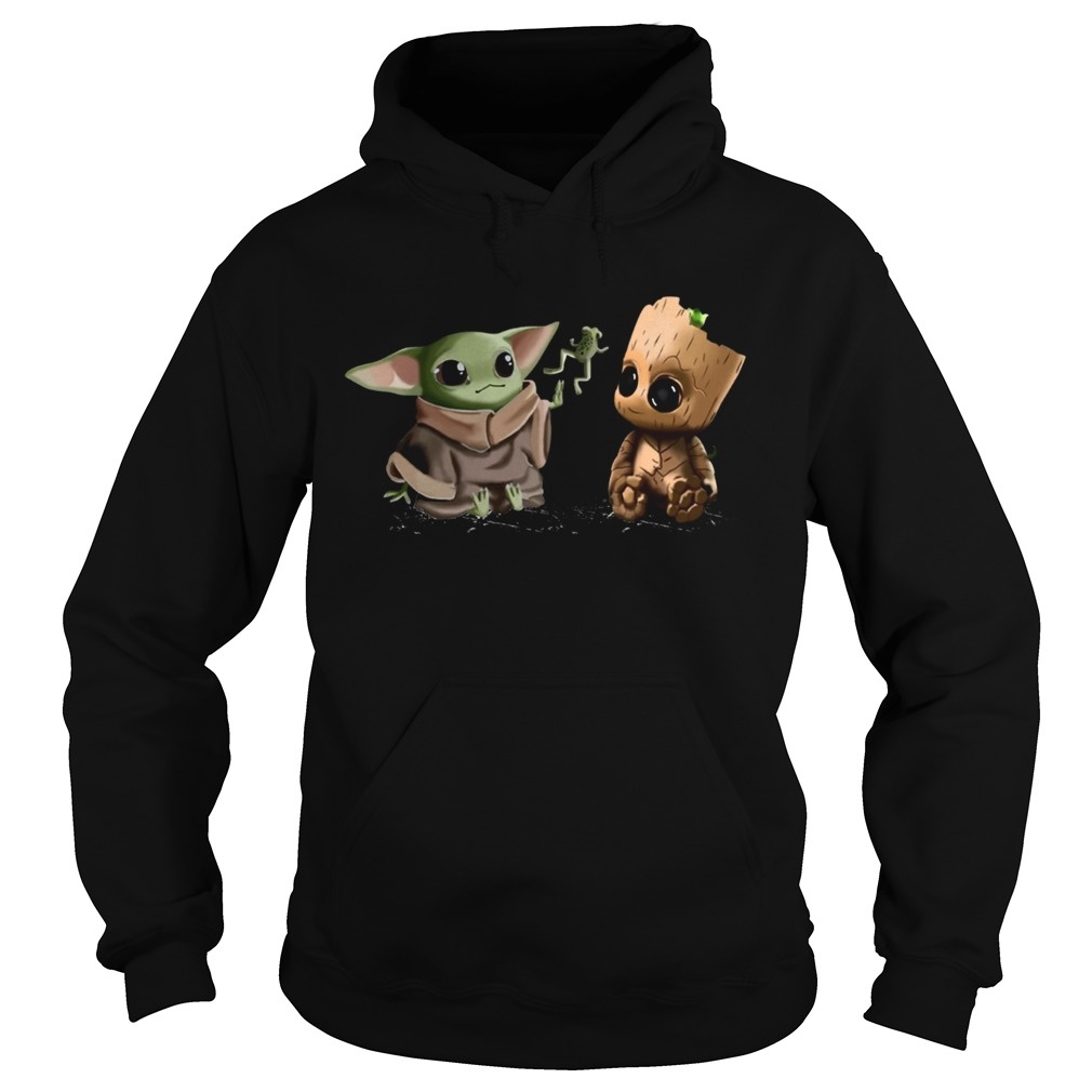 Baby Yoda Frog and Groot  Hoodie