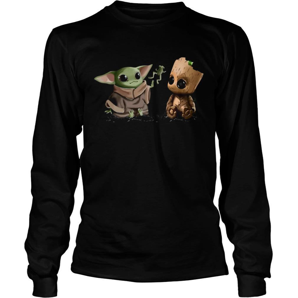 Baby Yoda Frog and Groot  LongSleeve