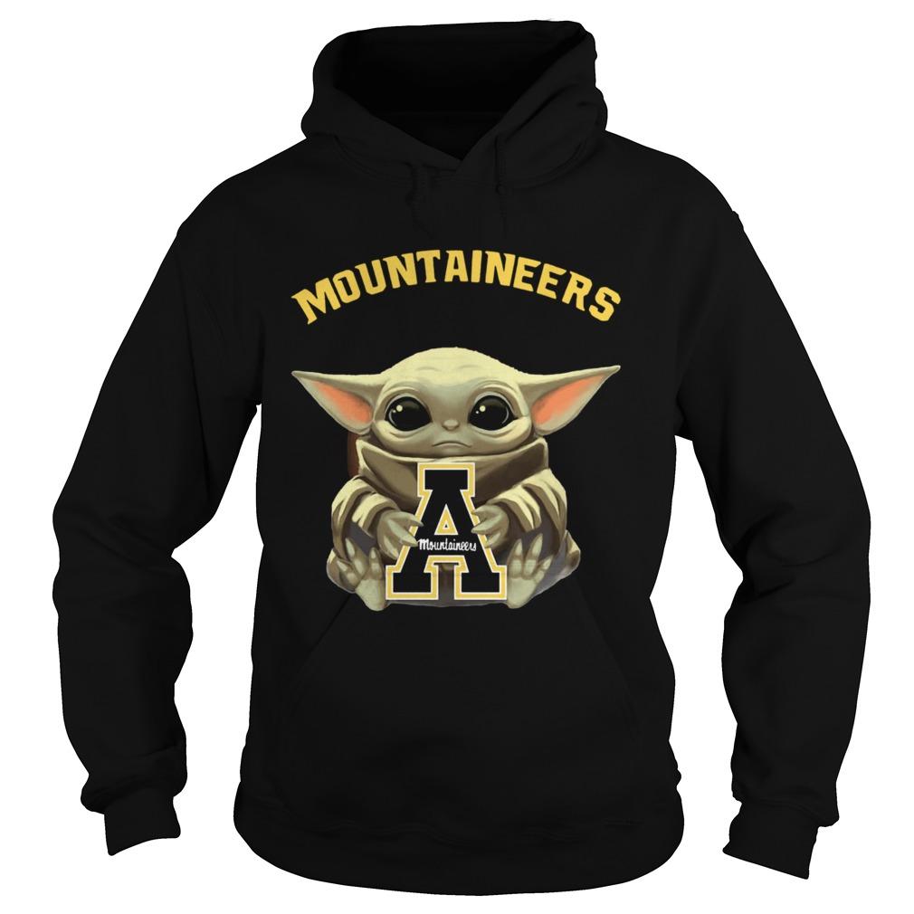 Baby Yoda hug Mountaineers  Hoodie