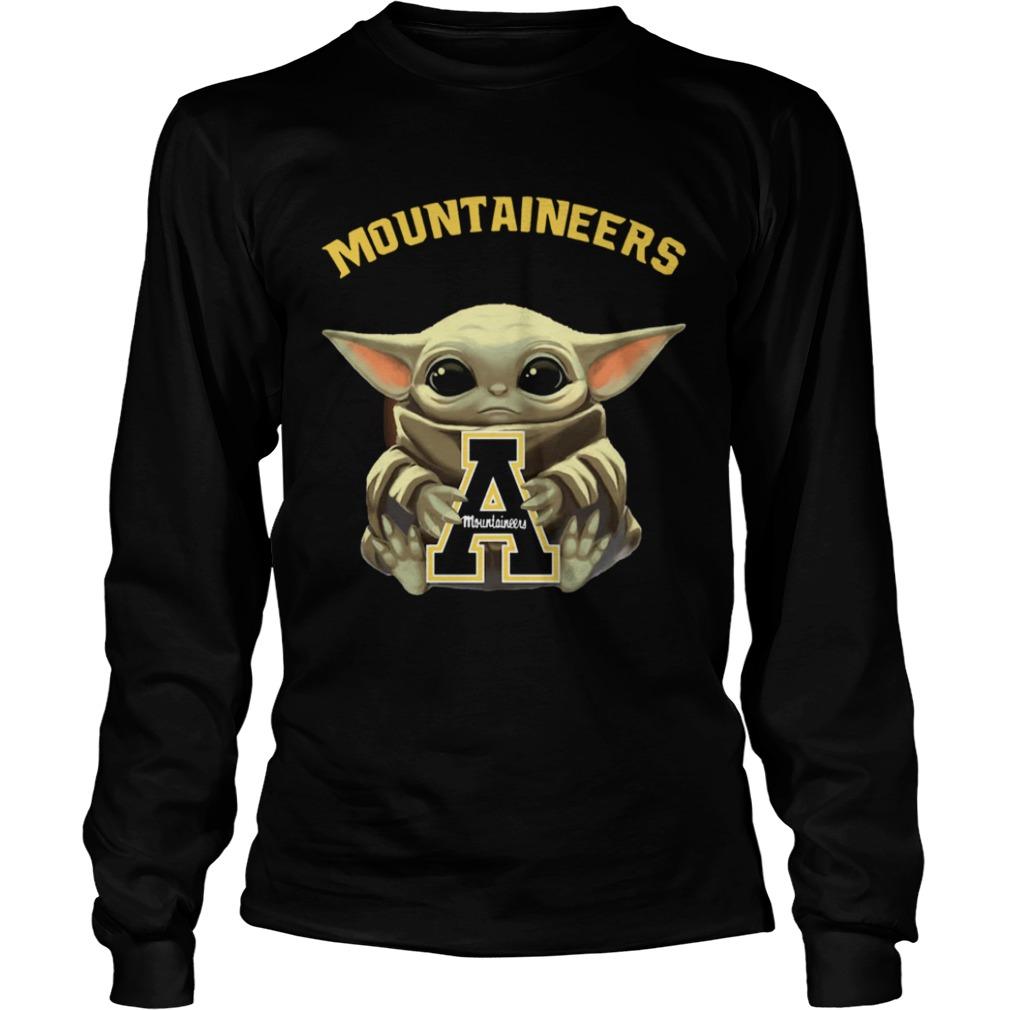 Baby Yoda hug Mountaineers  LongSleeve