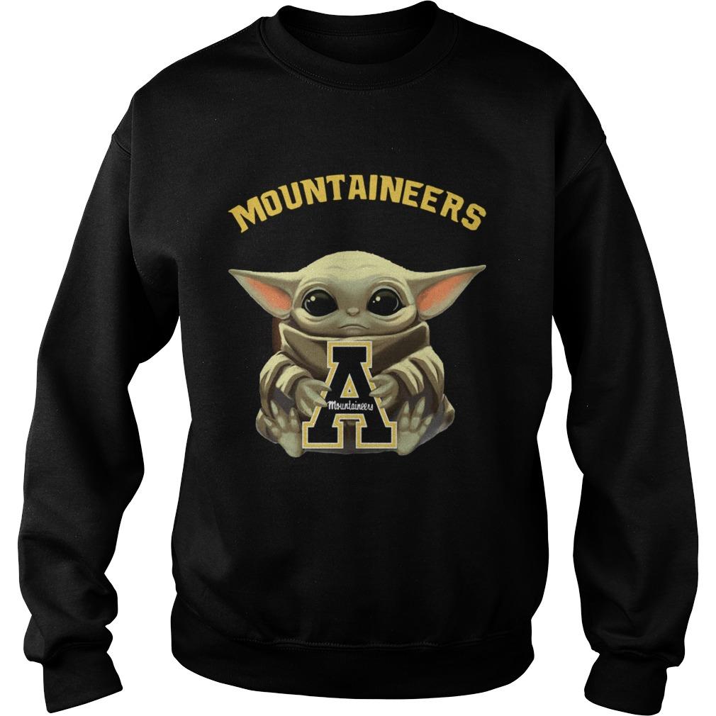 Baby Yoda hug Mountaineers  Sweatshirt