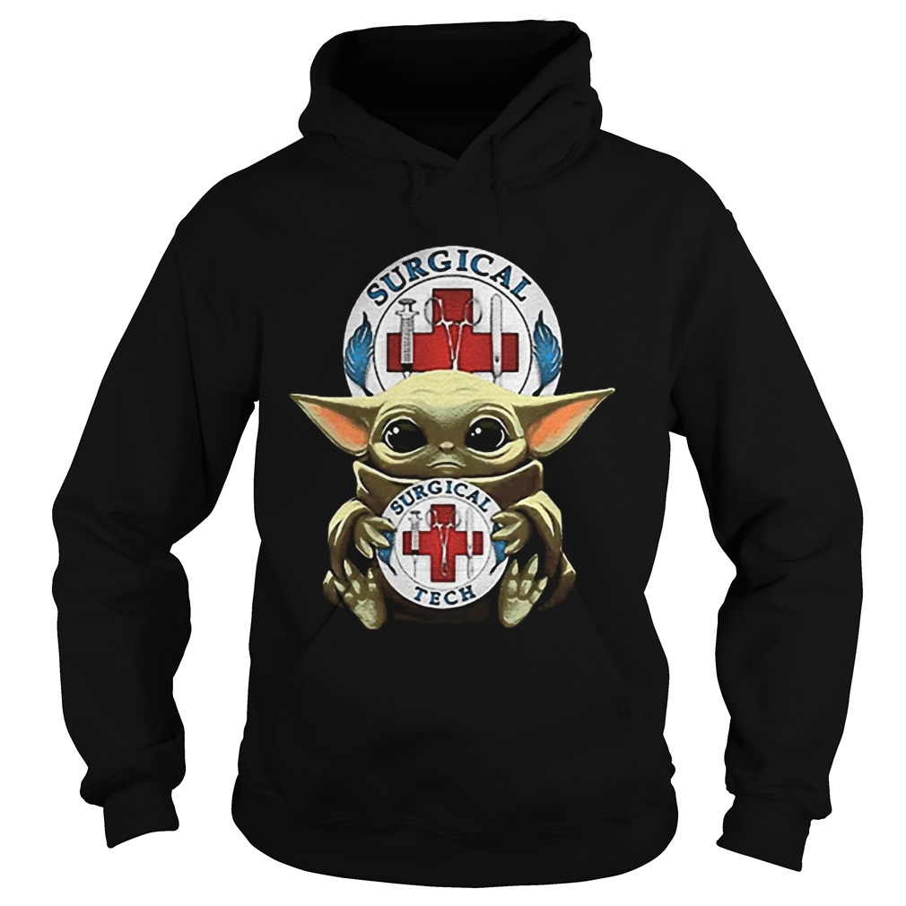 Baby Yoda Hug Surgical Tech Logo Star Wars  Hoodie