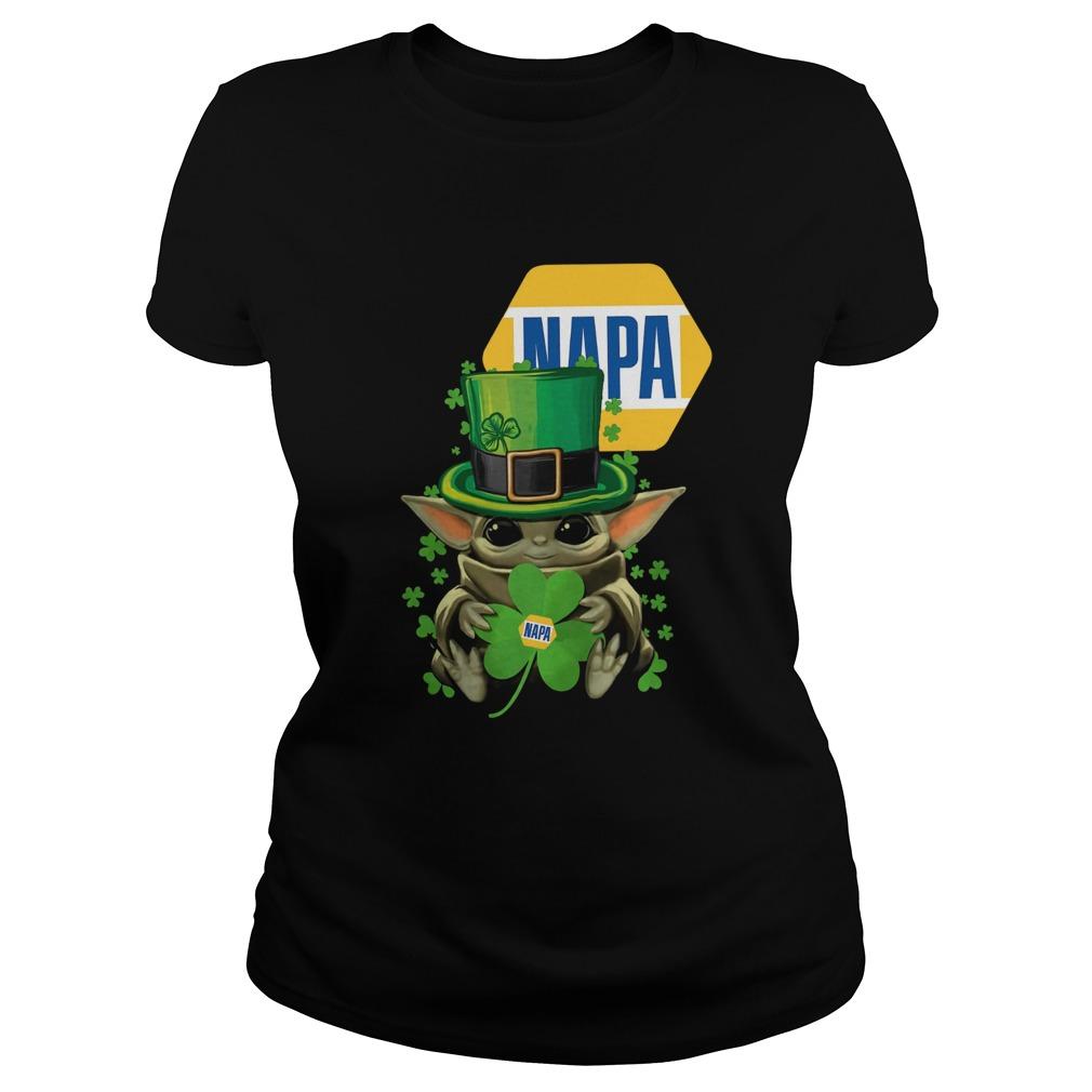 Baby Yoda Napa Shamrock St Patricks Day  Classic Ladies