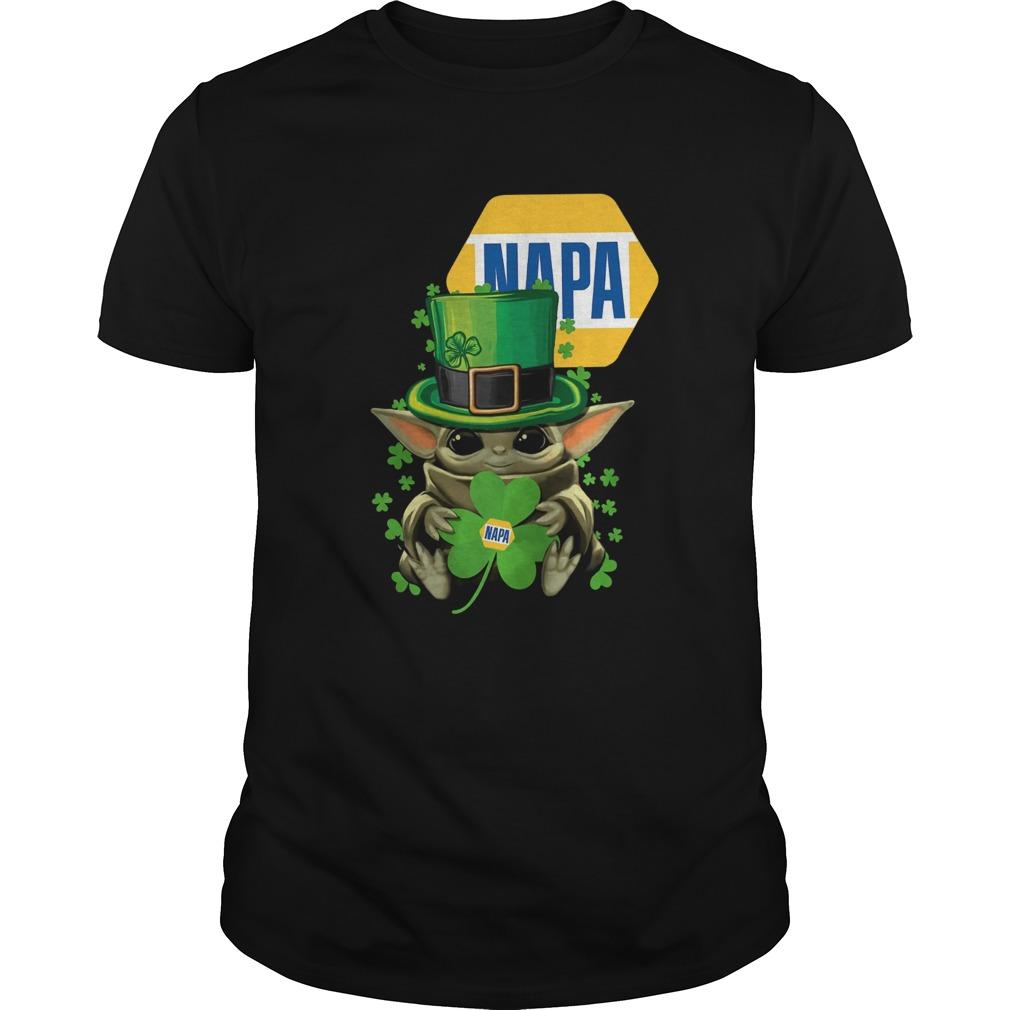 Baby Yoda Napa Shamrock St Patricks Day  Unisex
