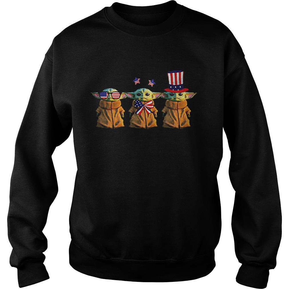 Baby Yoda Patriot American USA Star Wars  Sweatshirt