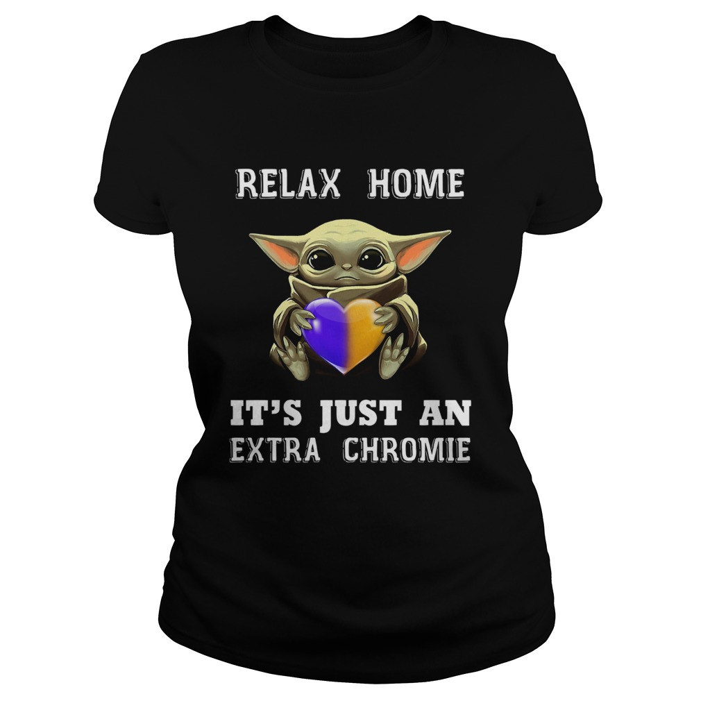 Baby Yoda Relax Homie Its Just An Extra Chromie  Classic Ladies