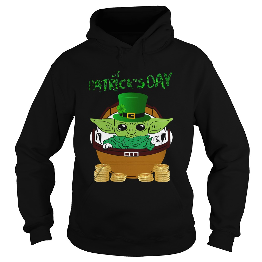 Baby Yoda The Mandalorian Happy St Patricks Day  Hoodie