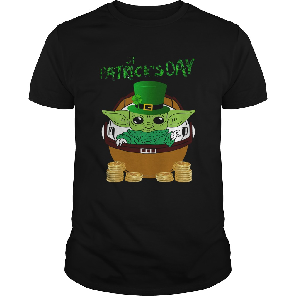 Baby Yoda The Mandalorian Happy St Patricks Day  Unisex