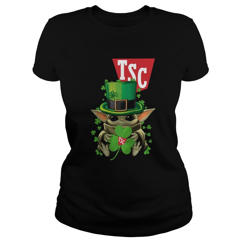 Baby Yoda TSC Stores Shamrock St Patricks Day  Classic Ladies