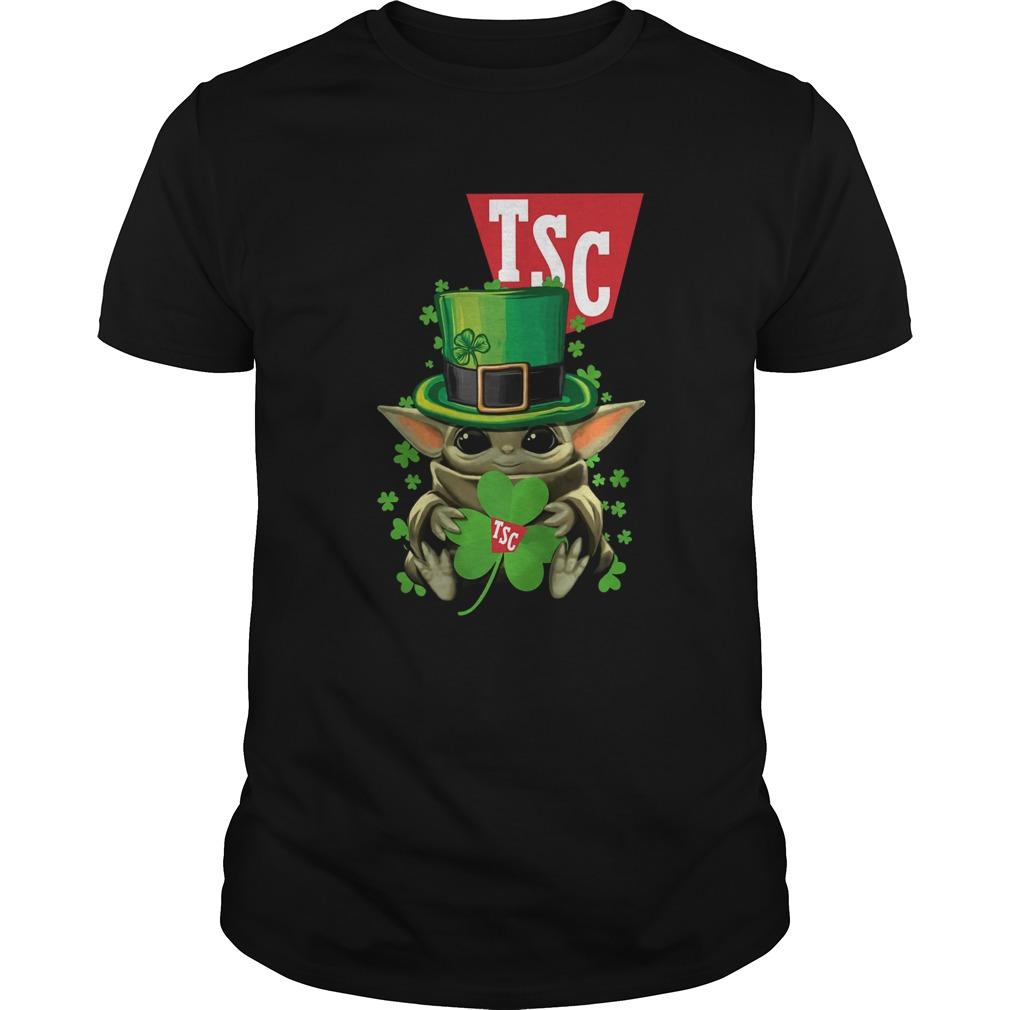 Baby Yoda TSC Stores Shamrock St Patricks Day  Unisex