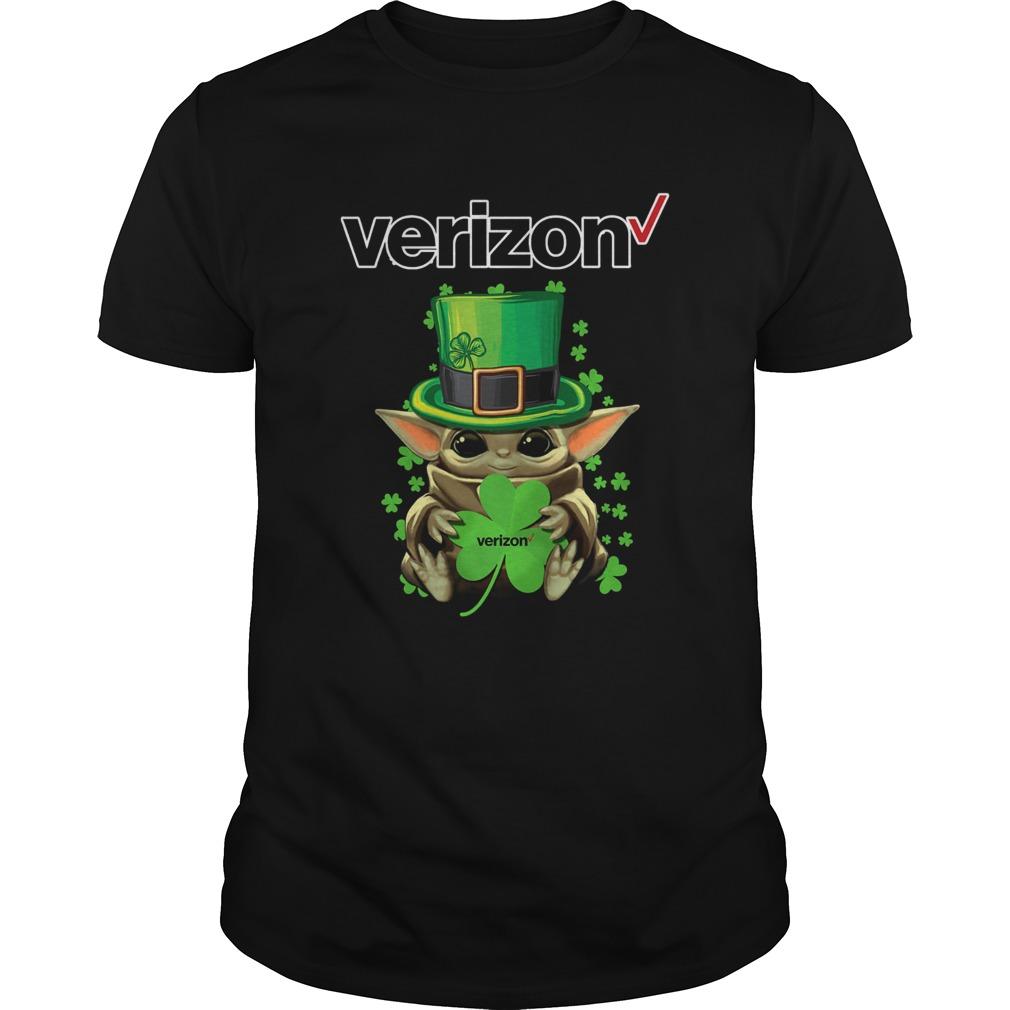 Baby Yoda Verizon Shamrock StPatricks Day  Unisex
