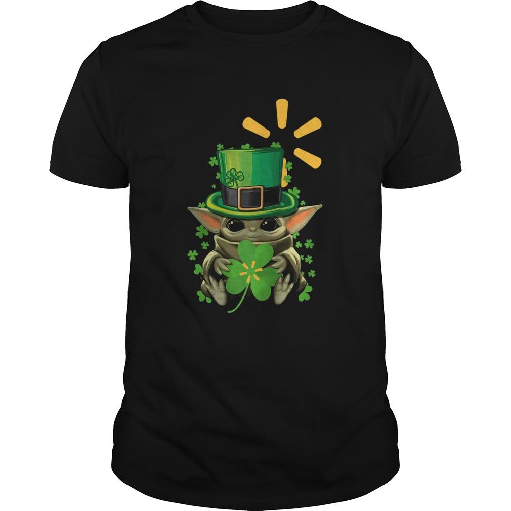 Baby Yoda Walmart Shamrock St Patricks Day  Unisex