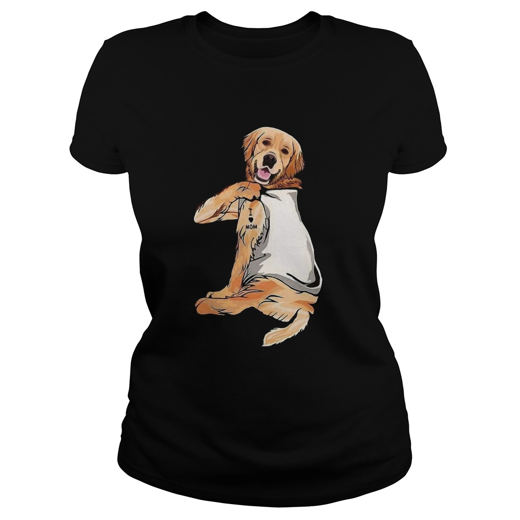 Golden Retriever Tattoos I Love Mom  Classic Ladies