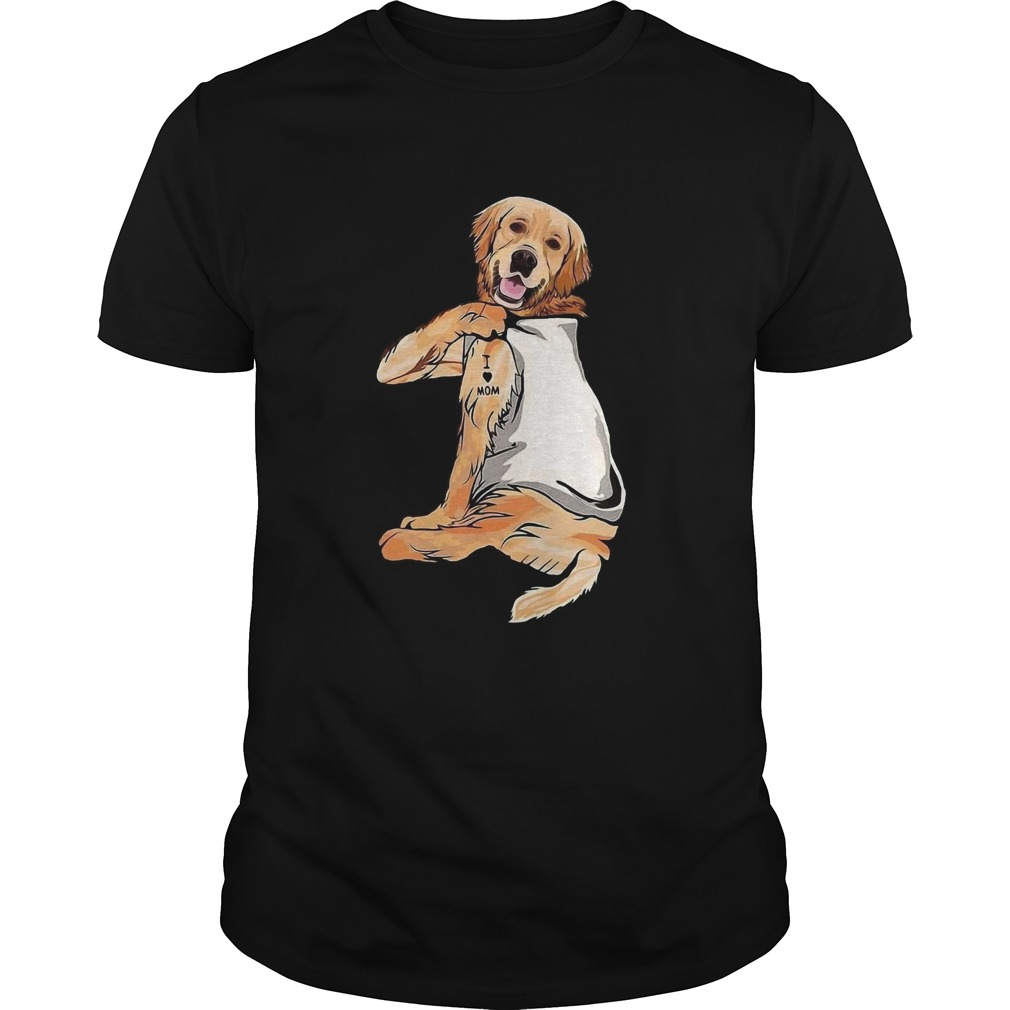 Golden Retriever Tattoos I Love Mom  Unisex