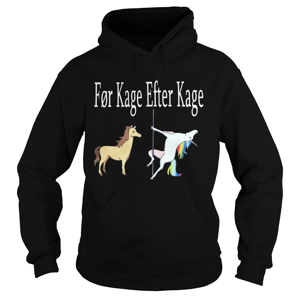 Horse And Unicorn Fr Kage Efter Kage  Hoodie