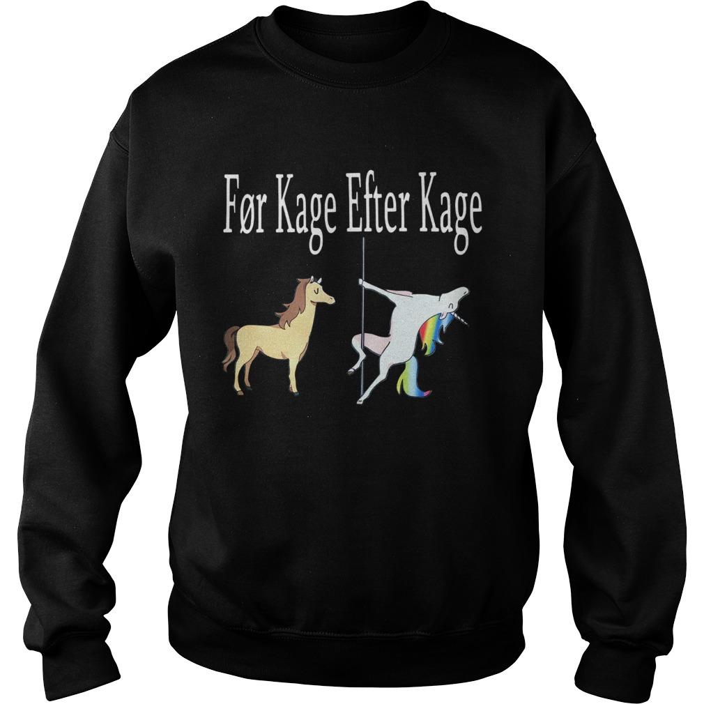 Horse And Unicorn Fr Kage Efter Kage  Sweatshirt