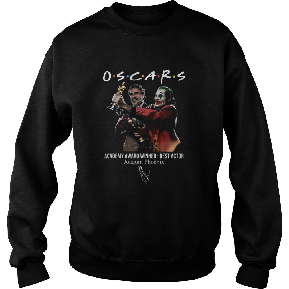 Joaquin Phoenix Joker Oscars 2020 Academy Award Winner Best Actor signature  Sweatshirt