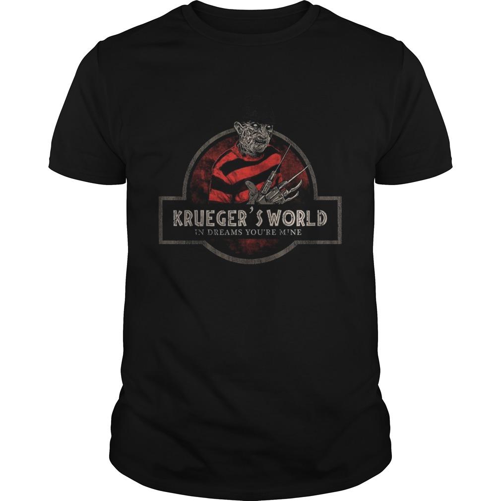 Jurassic Park Logo Freddy Kruegers World In Dreams Youre Mine  Unisex