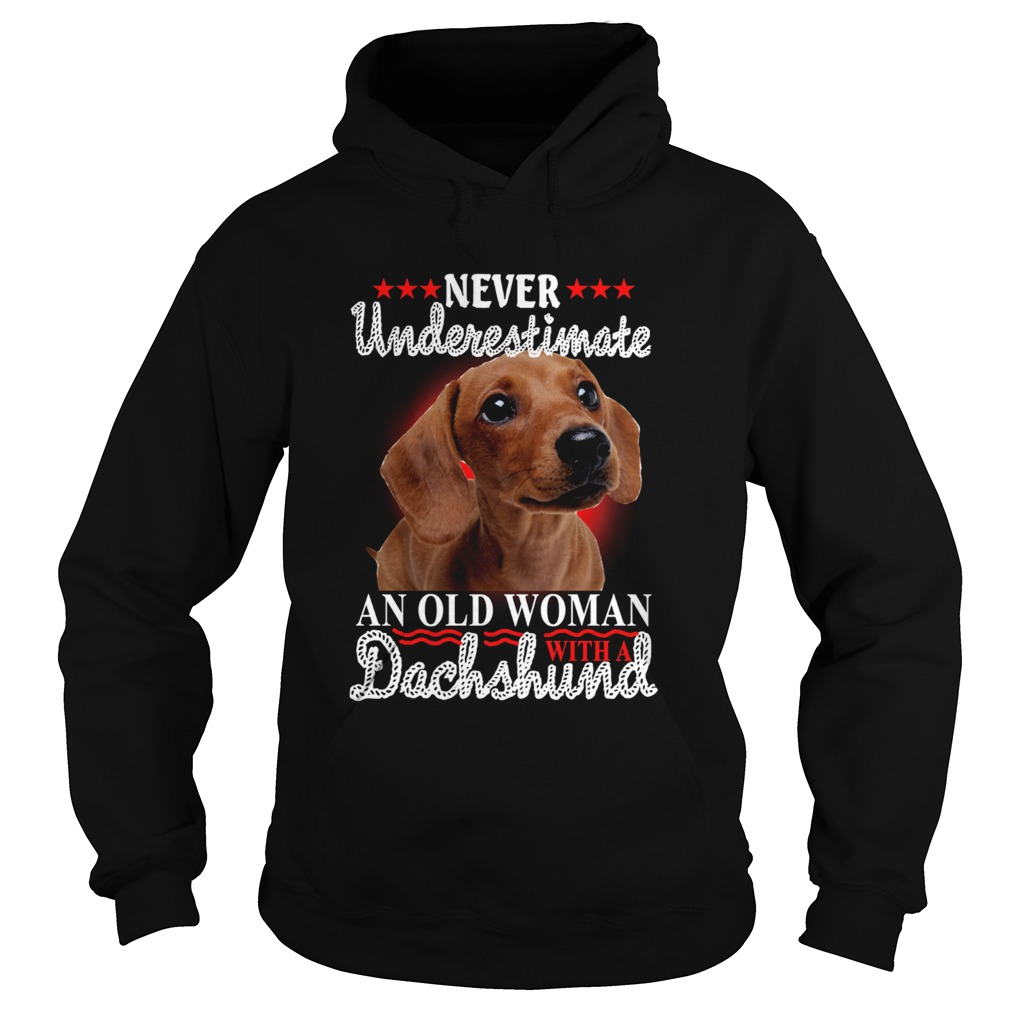 Never Underestimate An Old Woman With A Dachshund  Hoodie