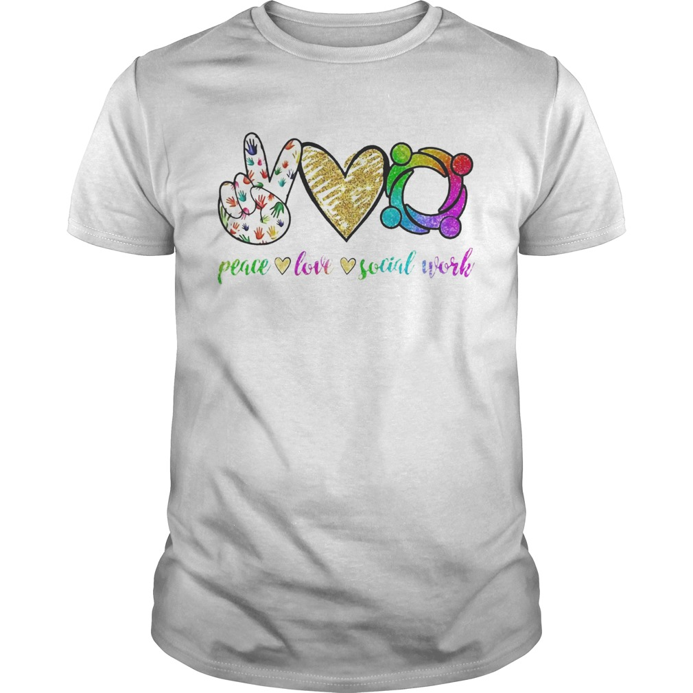 Peace love social word  Unisex