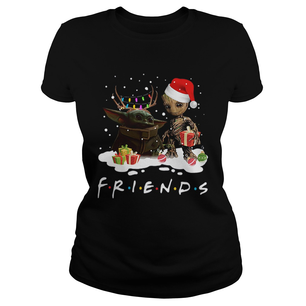 Santa baby Yoda and baby Groot Reindeer light christmas  Classic Ladies