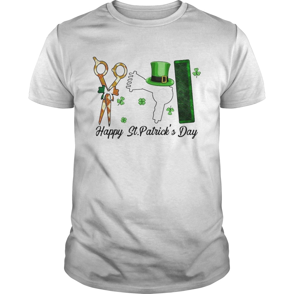Scissors Hair dryer Comb Happy St Patricks Day  Unisex