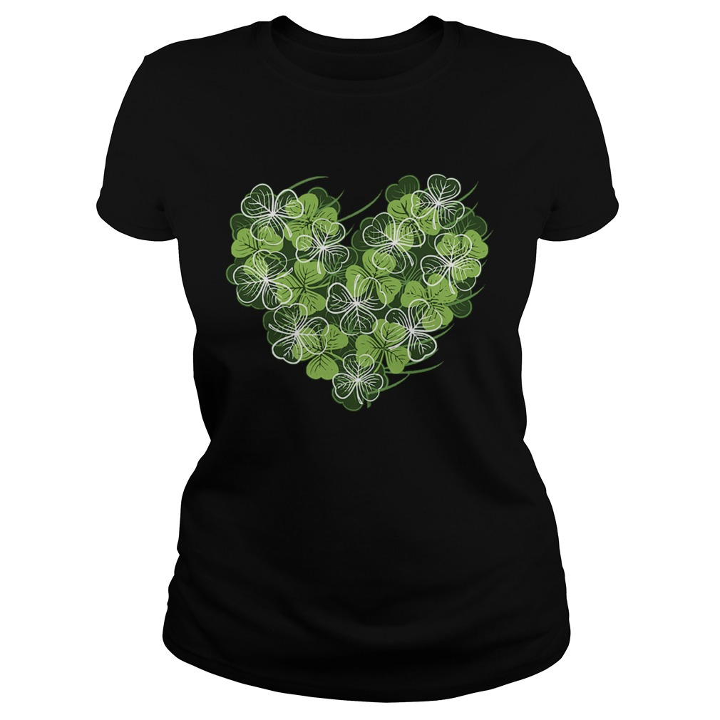Shamrock Heart St Patricks Day Love Valentines Day  Classic Ladies