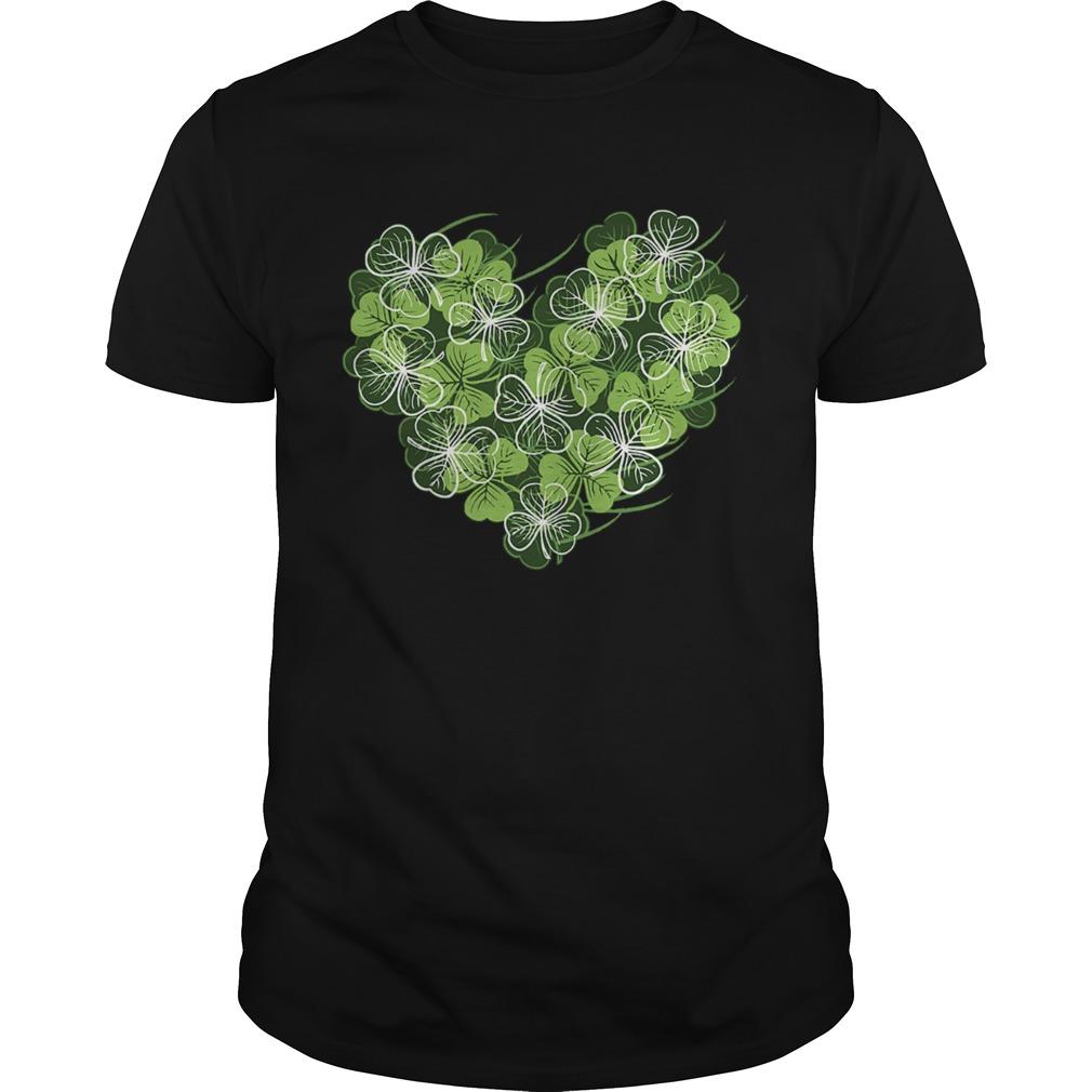 Shamrock Heart St Patricks Day Love Valentines Day  Unisex