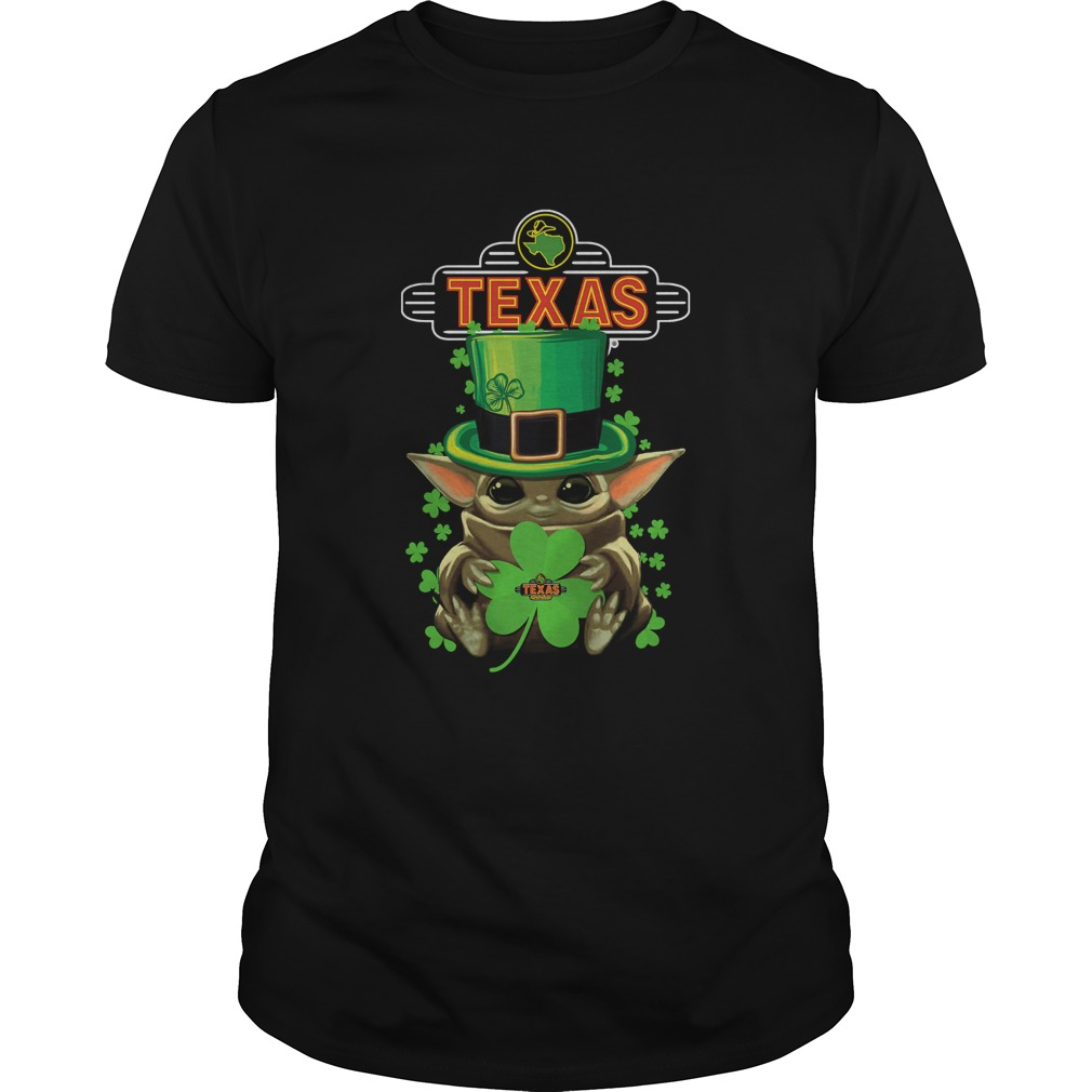 St Patricks Day Baby Yoda Hug Texas Roadhouse  Unisex