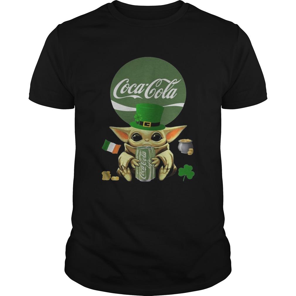 St Patricks Day Baby Yoda Hugging Coca Cola Green Unisex