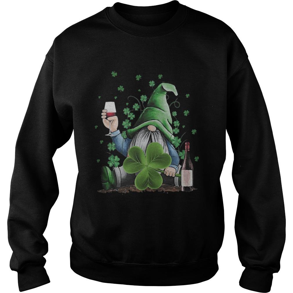 St Patricks Day Gnome Irish Drinking Wine  Sweatshirt